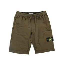 Stone Island Fleece Bermuda Shorts Military Green