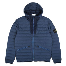 Stone Island Real Down Jacket Marine Blue