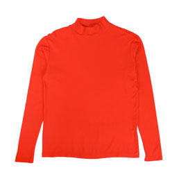 Bianca Chandon L/S Mock Neck T-Shirt Red