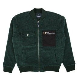 Thames Fleece Bomber Jacket Green
