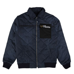 Thames Quilted Waxed Jacket Blue