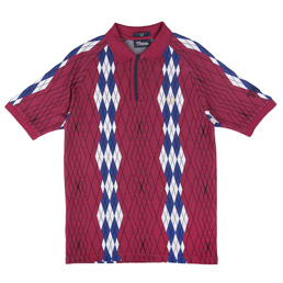 Thames Argyle Pique Shirt Blackberry