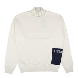 Thames Zip Neck Sweatshirt Butter