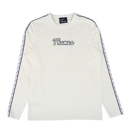 Thames L/S Taped Ringer T-Shirt Snow
