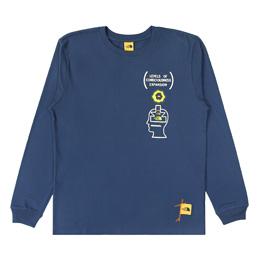 Braindead x TNF M L/S T-Shirt - Shady Blue