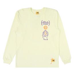 Braindead x TNF M L/S T-Shirt - Tender Yellow