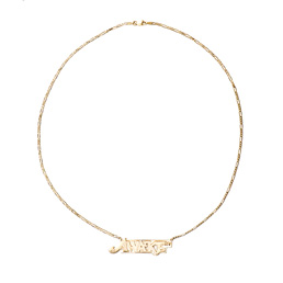 Awakw NY Logo Nameplate Necklace