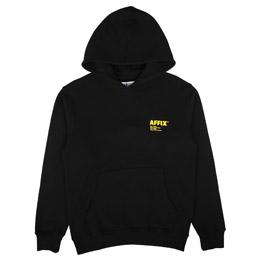 Affix Logo Print Hoodie Black/Yellow