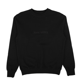 Affix New Utility Embroidery Crew Neck Black