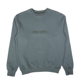 Affix New Utility Embroidery Crew Neck Grey