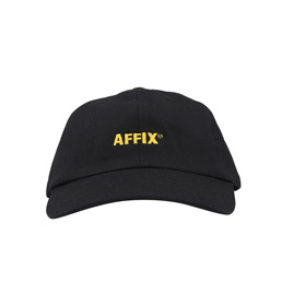 Affix Embroidered Twill Flex Cap Black/ Yellow