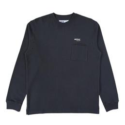 Affix LS Waffle Pocket  T-Shirt - Dark Grey
