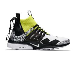 Nike Air Presto Mid/ACRONYM - White/Black-Yellow