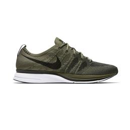 Nike Flyknit Trainer - Medium Olive/Black-White