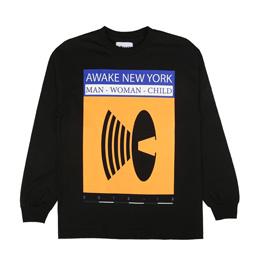 Awake NY Man Woman Child T-Shirt Black