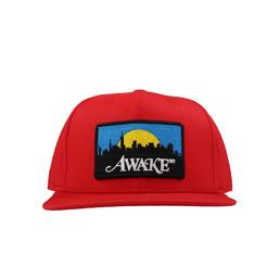 Awale NY Skyline Patch Hat Red