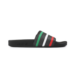 Adidas x Palace Adilette Black/ Red/ Green