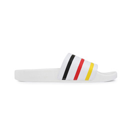 Adidas x Palace Adilette White/ Black/ Red