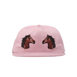 BC Two Horses Hat Pink