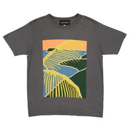 BC Beach Scene T-Shirt Charcoal