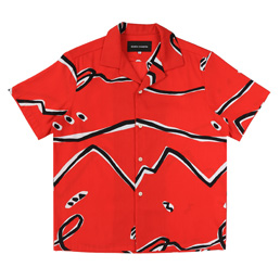BC S/S Abstract Button-Up Shirt Red