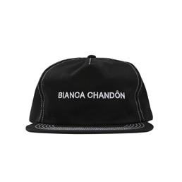 BC Contrast Stitch Logotype Hat - Black