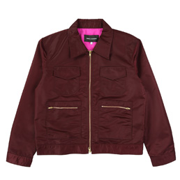 BC Aviator Satin Station Jacket - Maroon
