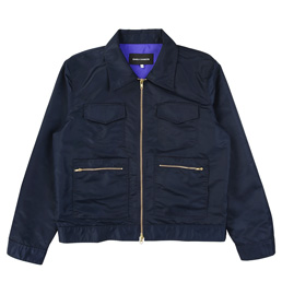 BC Aviator Satin Station Jacket - Navy