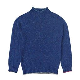 BC Blanket Stitch Sweater - Blue