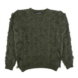 Bianca Chandon Cut Float Jacquard Sweater Olive