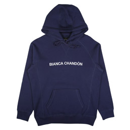 Bianca Chandon Logotype Pullover Hood Navy
