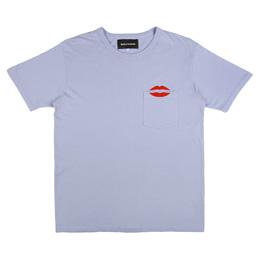 Bianca Chandon NYC Lips Pocket T-Shirt Dusk