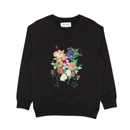 Bianca Chandon NY Floral Crew - Black