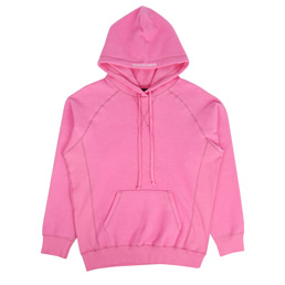 Bianca Chandon Reverse Fleece Pullover Hood Pink