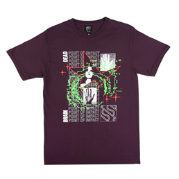 Braindead Point Of Impact T-Shirt Purple
