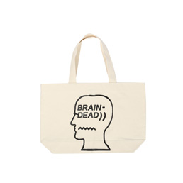 Brain Dead Logo Tote Natural