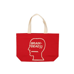Brain Dead Logo Tote Red