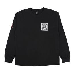 Brain Dead Sub Dom L/S T-Shirt Faded Black