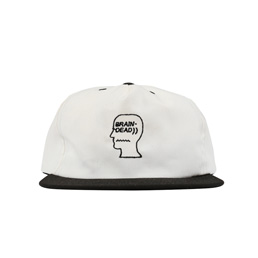 Brain Dead Logo Cap Natural/ Black