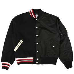 Brain Dead Split Varsity Jacket Black