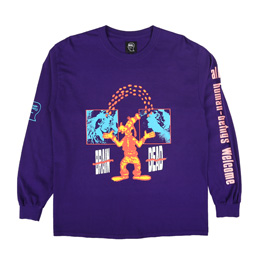 Braindead Human Being L/S T-Shirt Purple