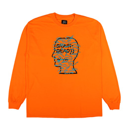 Braindead Infected Logo LS T-Shirt Orange