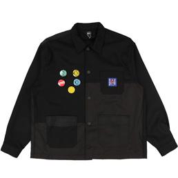 Braindead Paneled Chore Coat Black