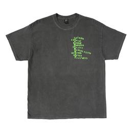 Braindead Heatwave SS T-Shirt - Washed Blackl