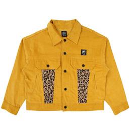 Braindead Corduroy Leopard Contrast Jacket - Yello