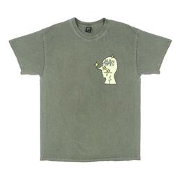 Braindead Graffiti Letter SS T-Shirt - Green
