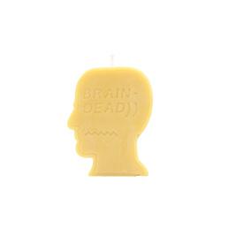 Brain Dead Logo Head Candle Yellow