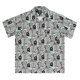 Brain Dead Buildings Hawaiian Shirt Teal