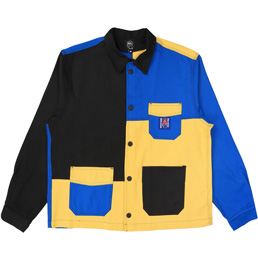 BD ColourBlocked Canvas Chore Coat - Yellow/Blue