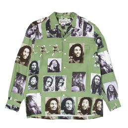 Bob Marley x Wacko Maria Hawaiian Shirt Green